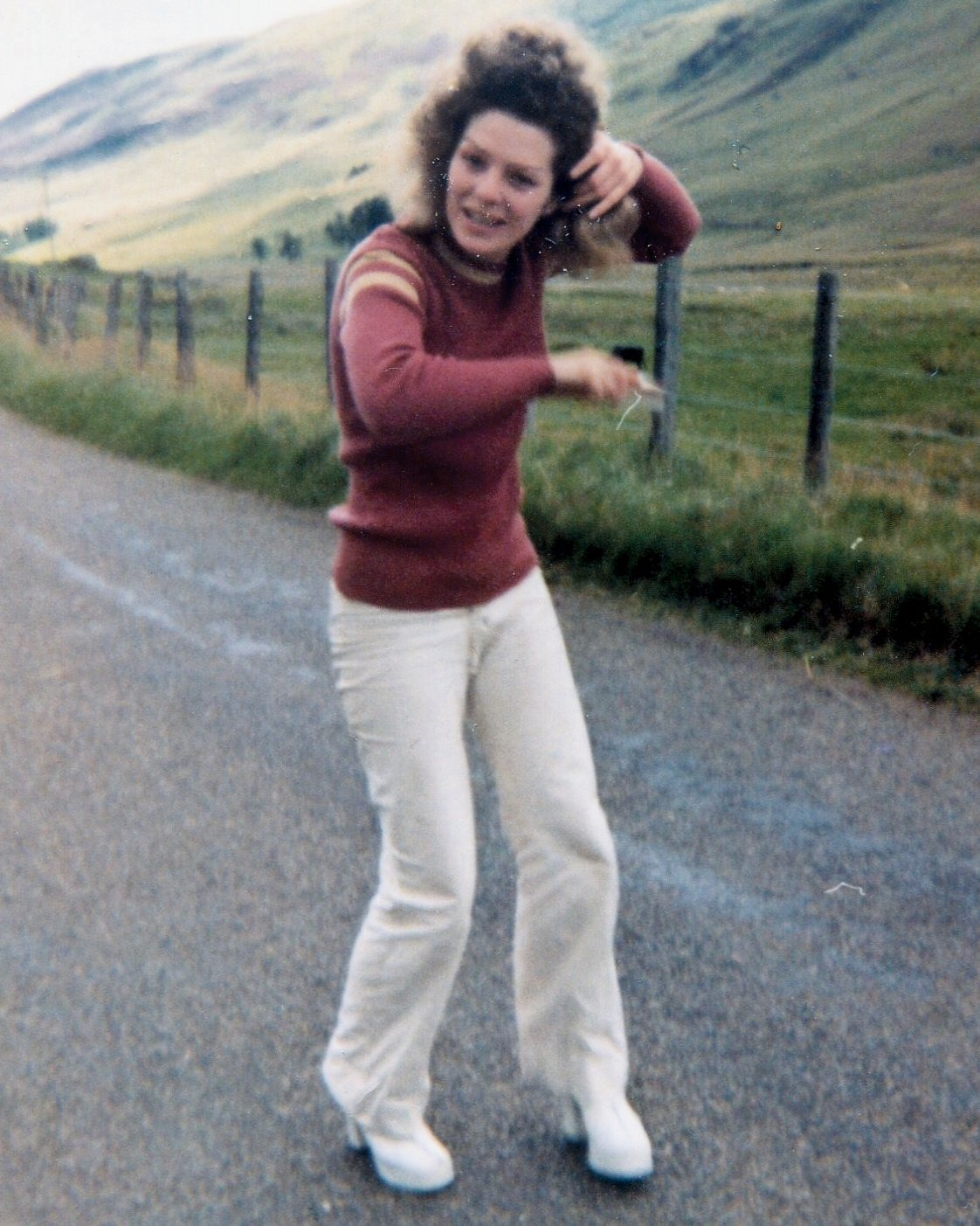 Camping Glen Clova (in white jeans - typical!)