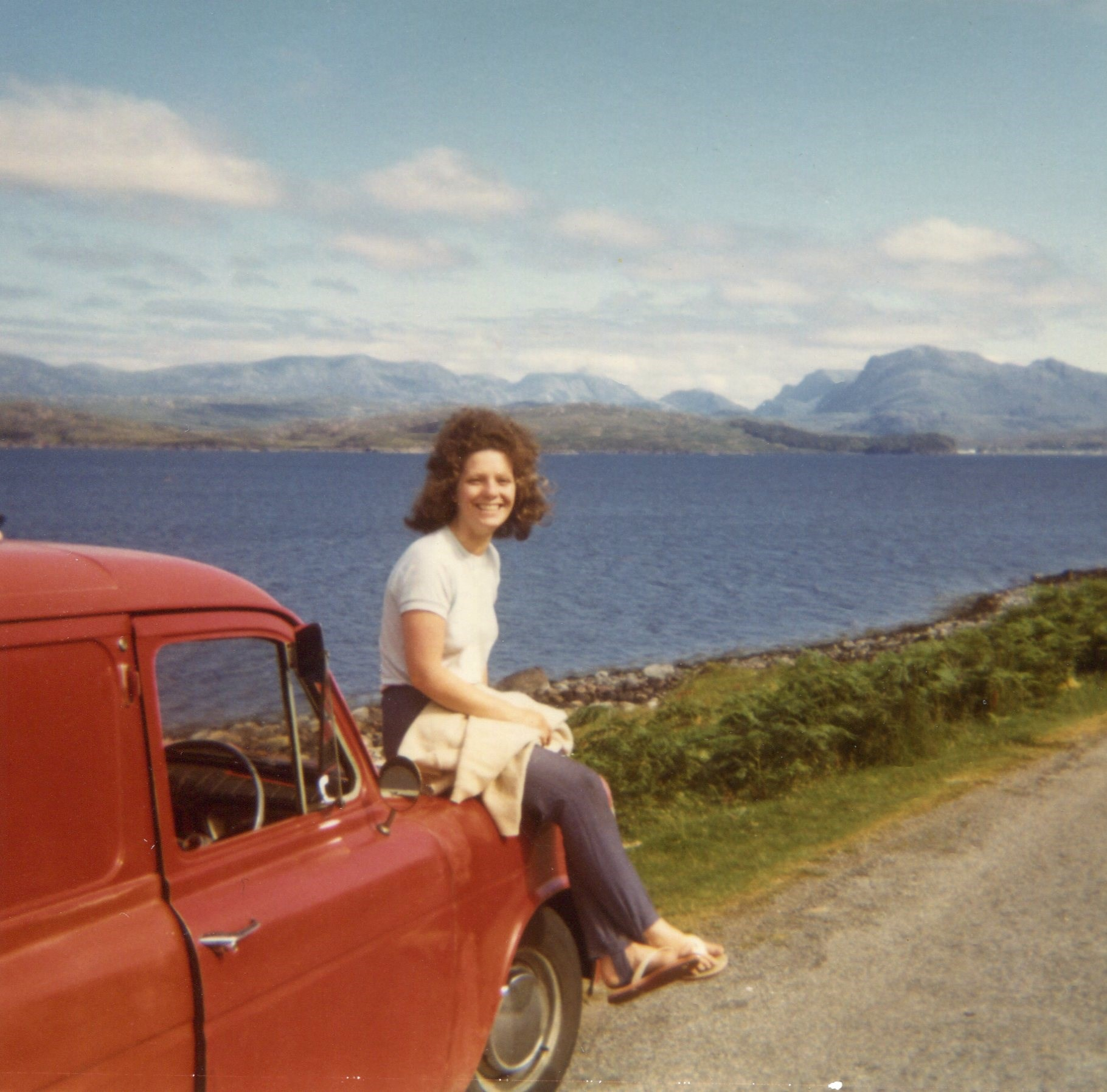 August 1972, north of Scotland - (smart car!!)
