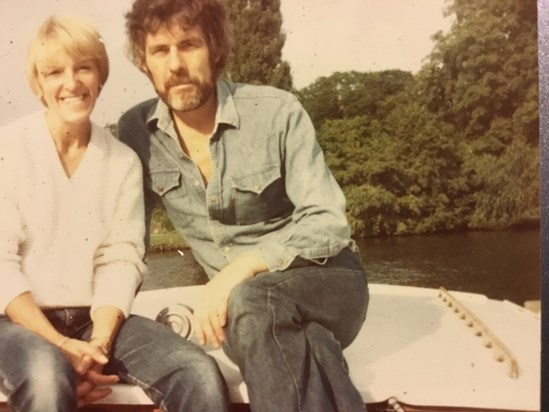 Beautiful lovebirds in Henley, about 1975.