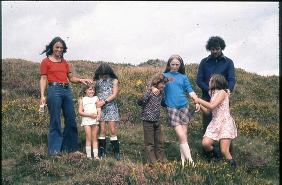 Ireland, about 1970, with Barbara (left) and assorted daughters and friends