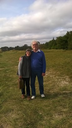 Brian and Barbara on holiday in Sweden in 2014