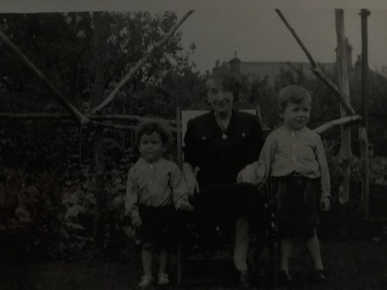 Brian (left) and David with their Grandma