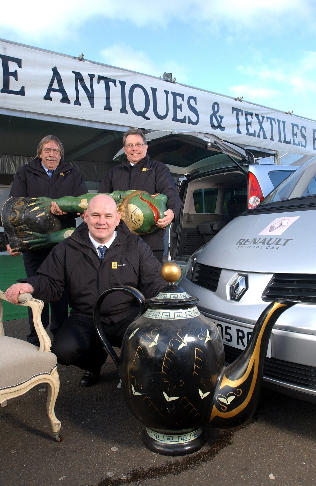 Les with Chris Hayward and Peter Morrison - working for Renault UK (which he did for over 20yrs!)