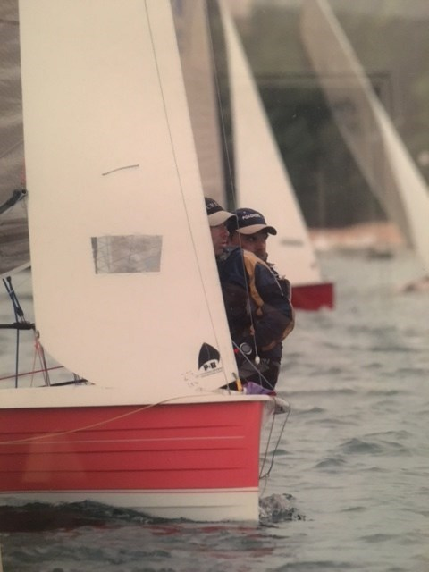 ...concentrating after a Salcombe start
