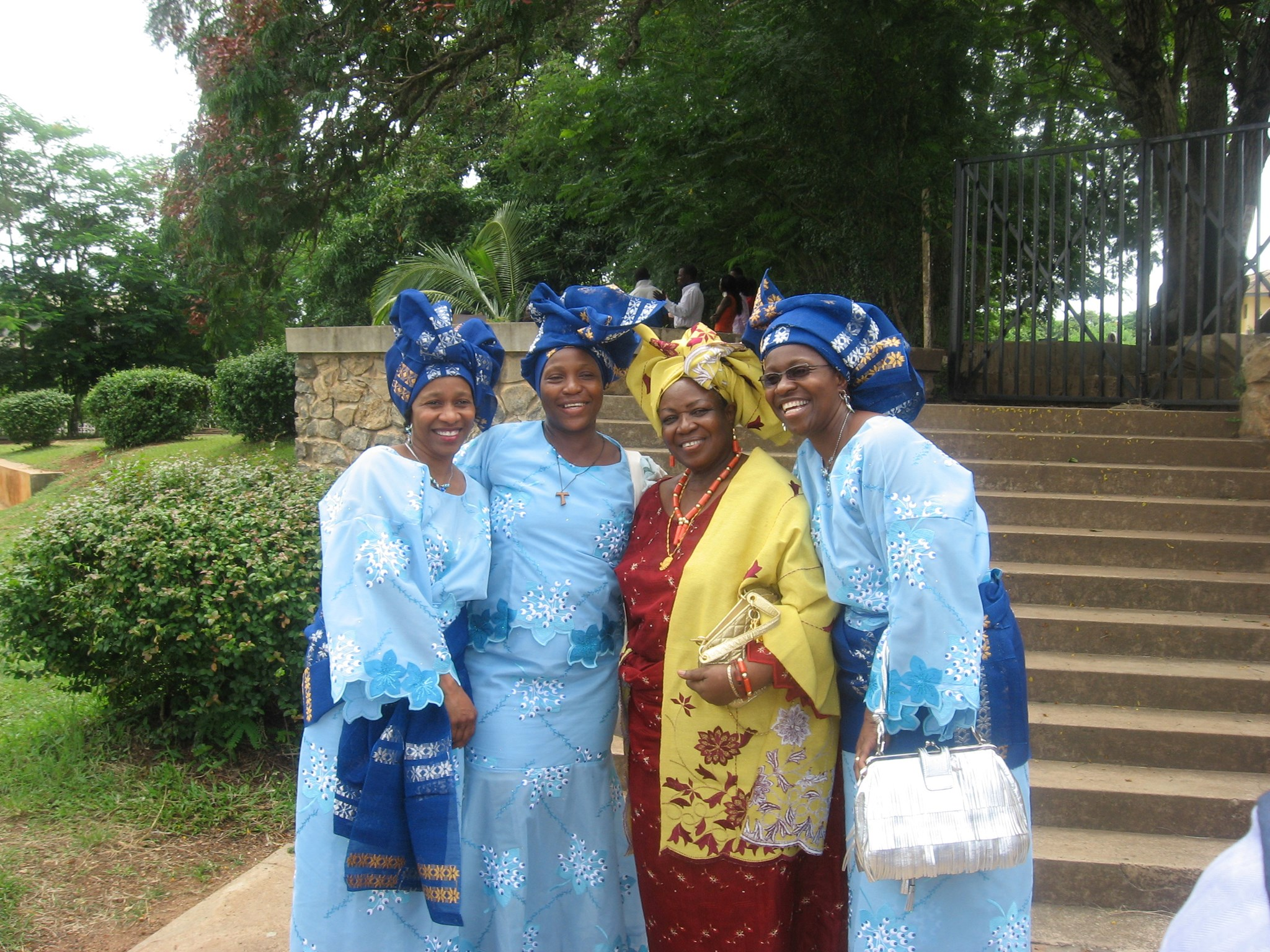 Mom and her girls at her 70th birthday- from right: Moremi, Mom, Yetade, Peyi