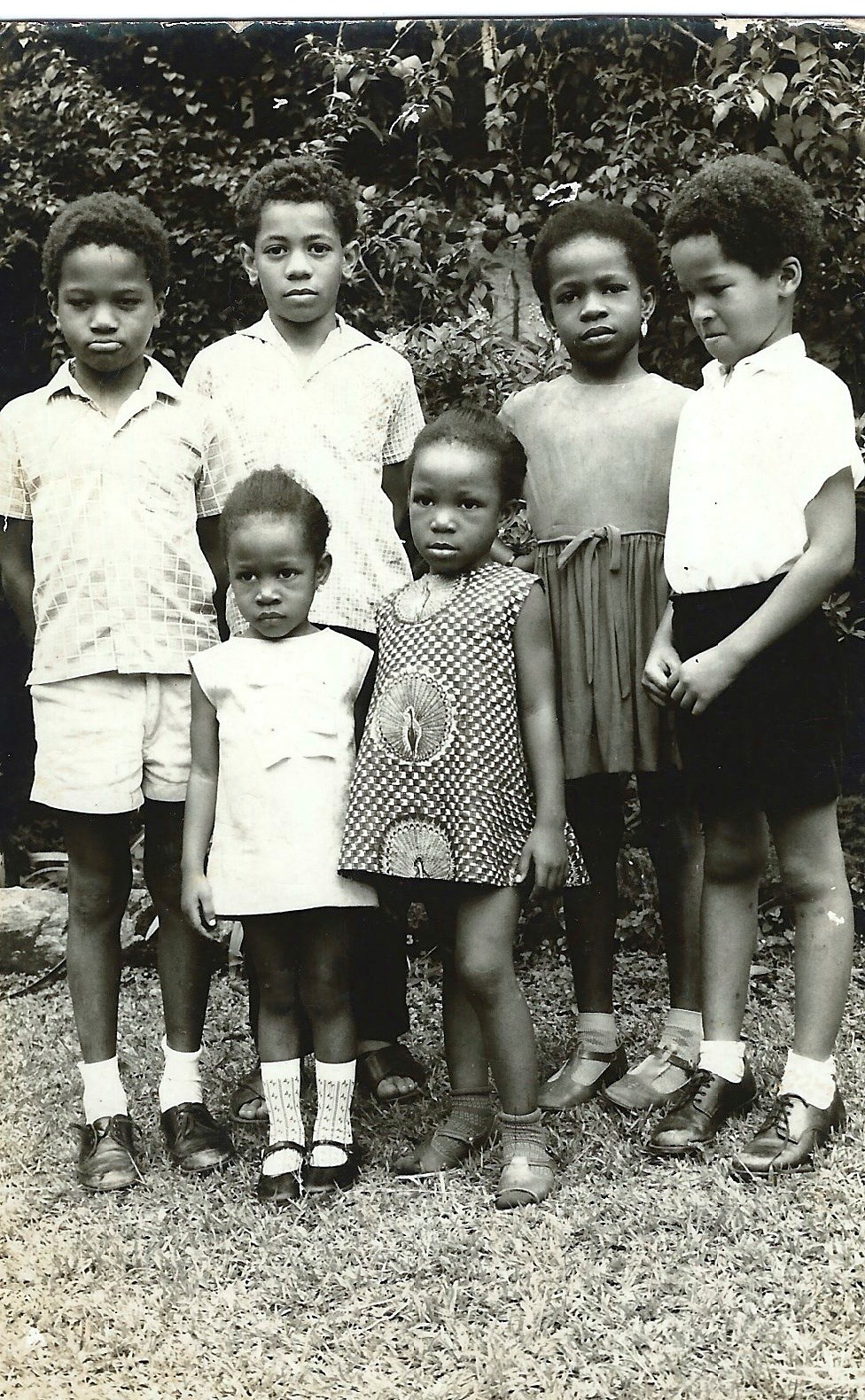 Soyinka and Kuti kids looking like mischief (Iyetade front right)