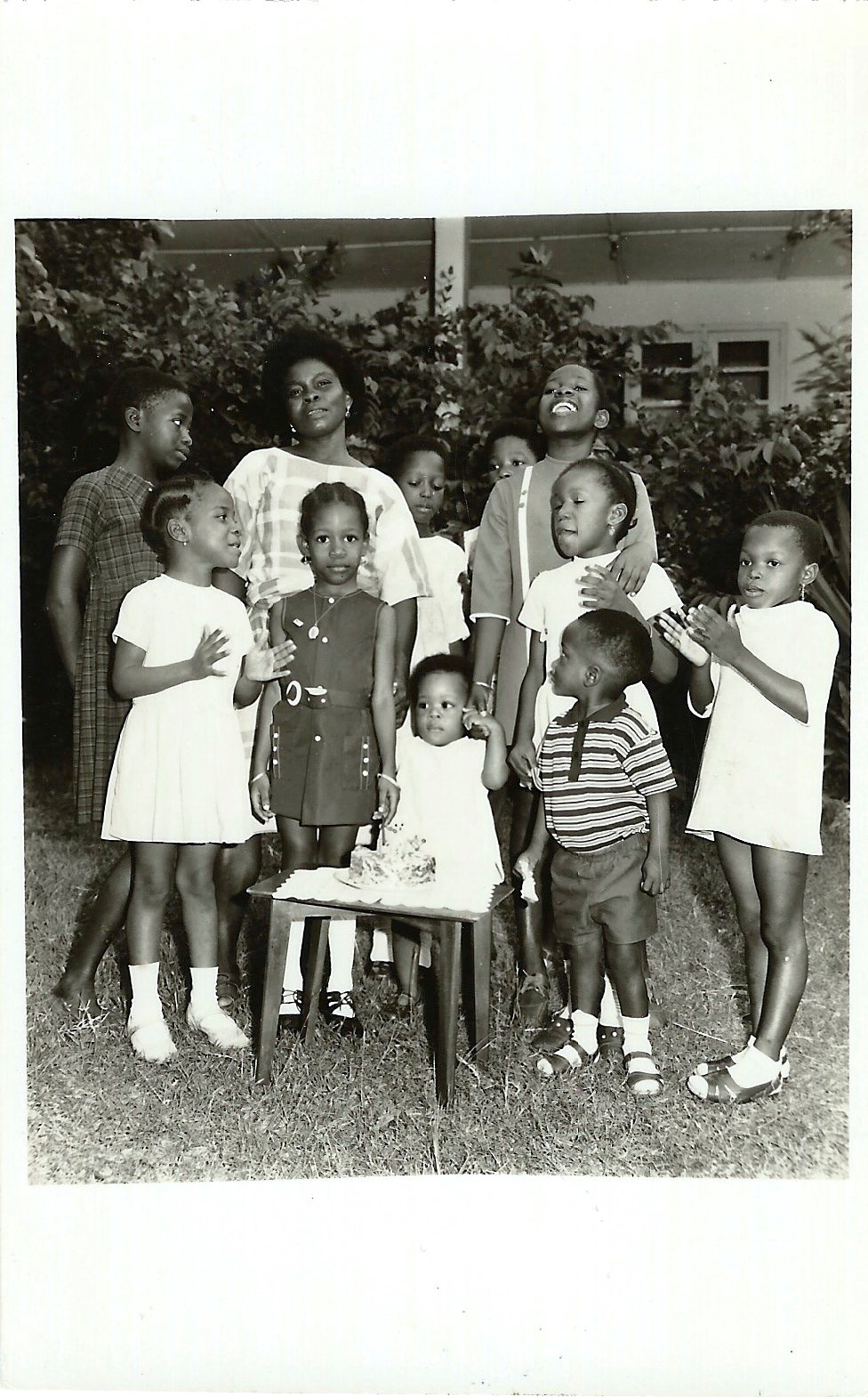 Birthday at home (Iyetade third from right)