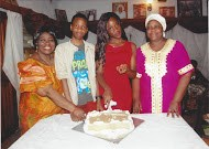 Iyetade with her daughter Oreofe, her son Adeoto, and Granny