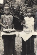 Iyetade and sister Peyi as young children.
