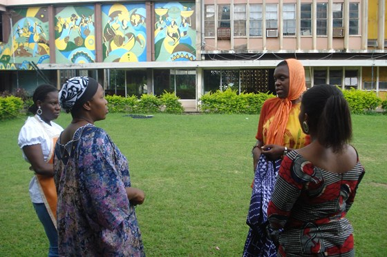 Tie and dye lessons with Iyetade, Ibadan 2008