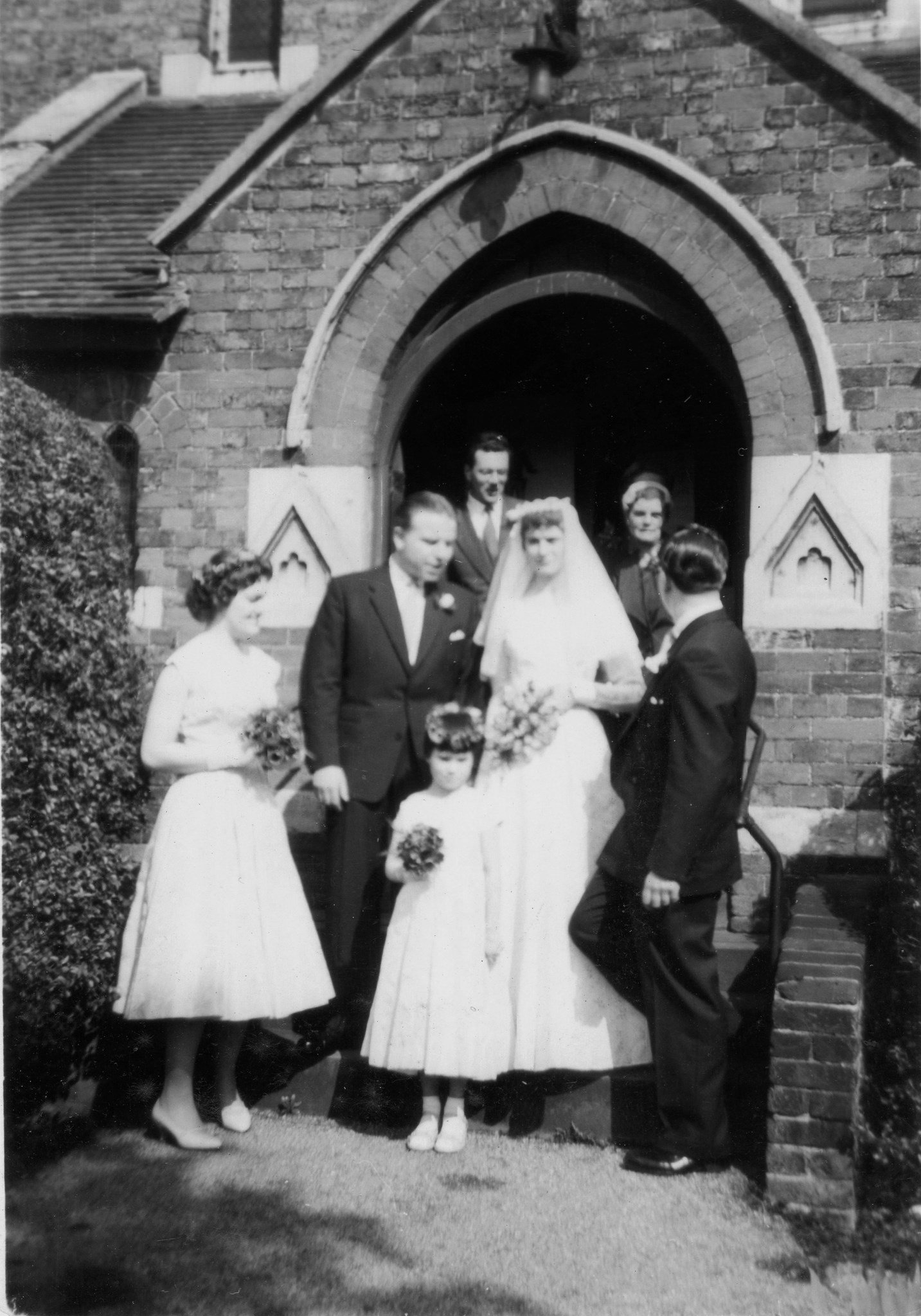 Betty and Den Adams Wedding - 12 April 1958