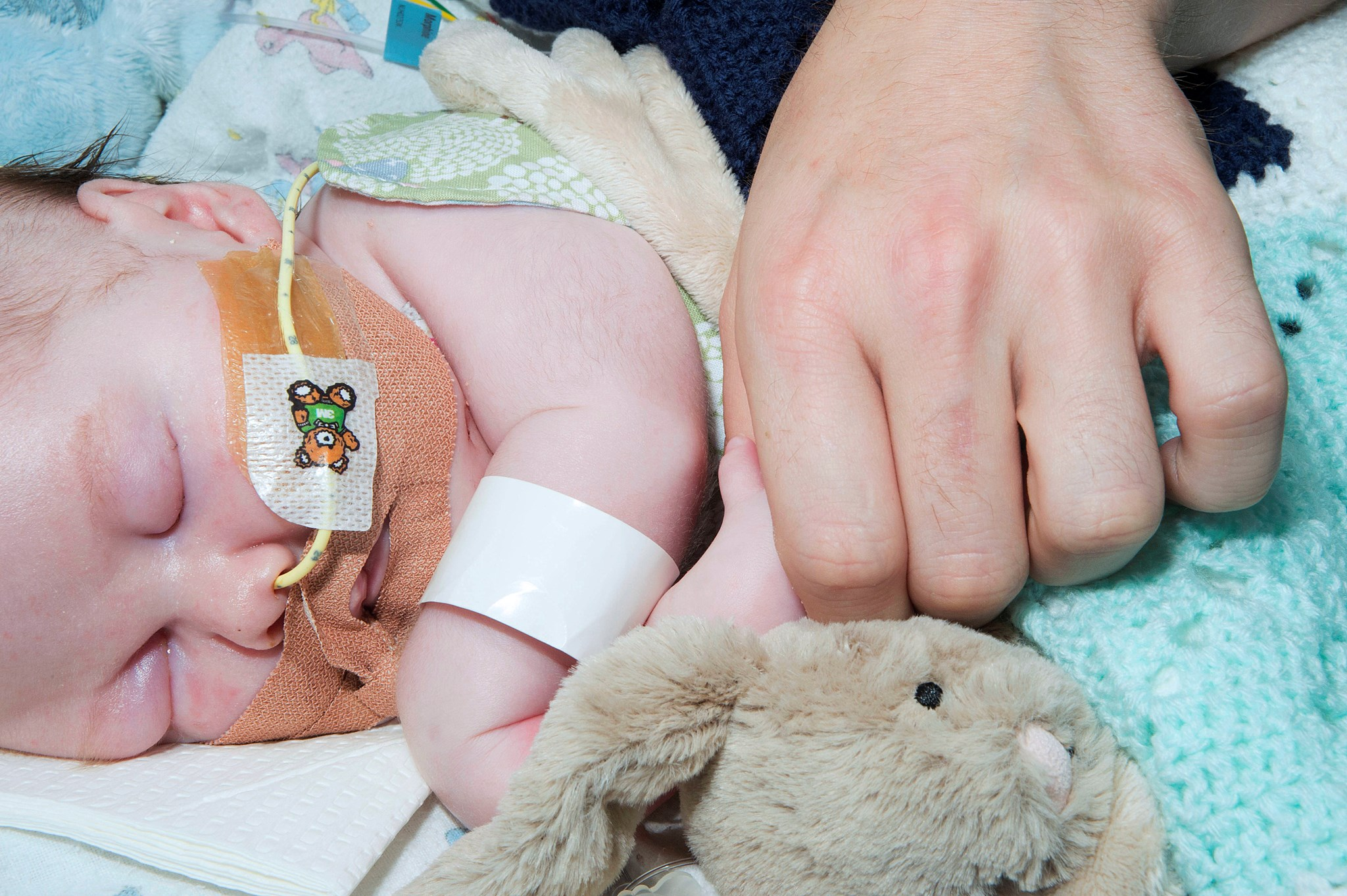 Codie and Daddy's hand