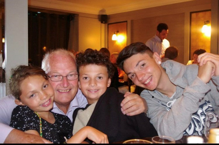 Grandfather with Harry Dylan and Layla.