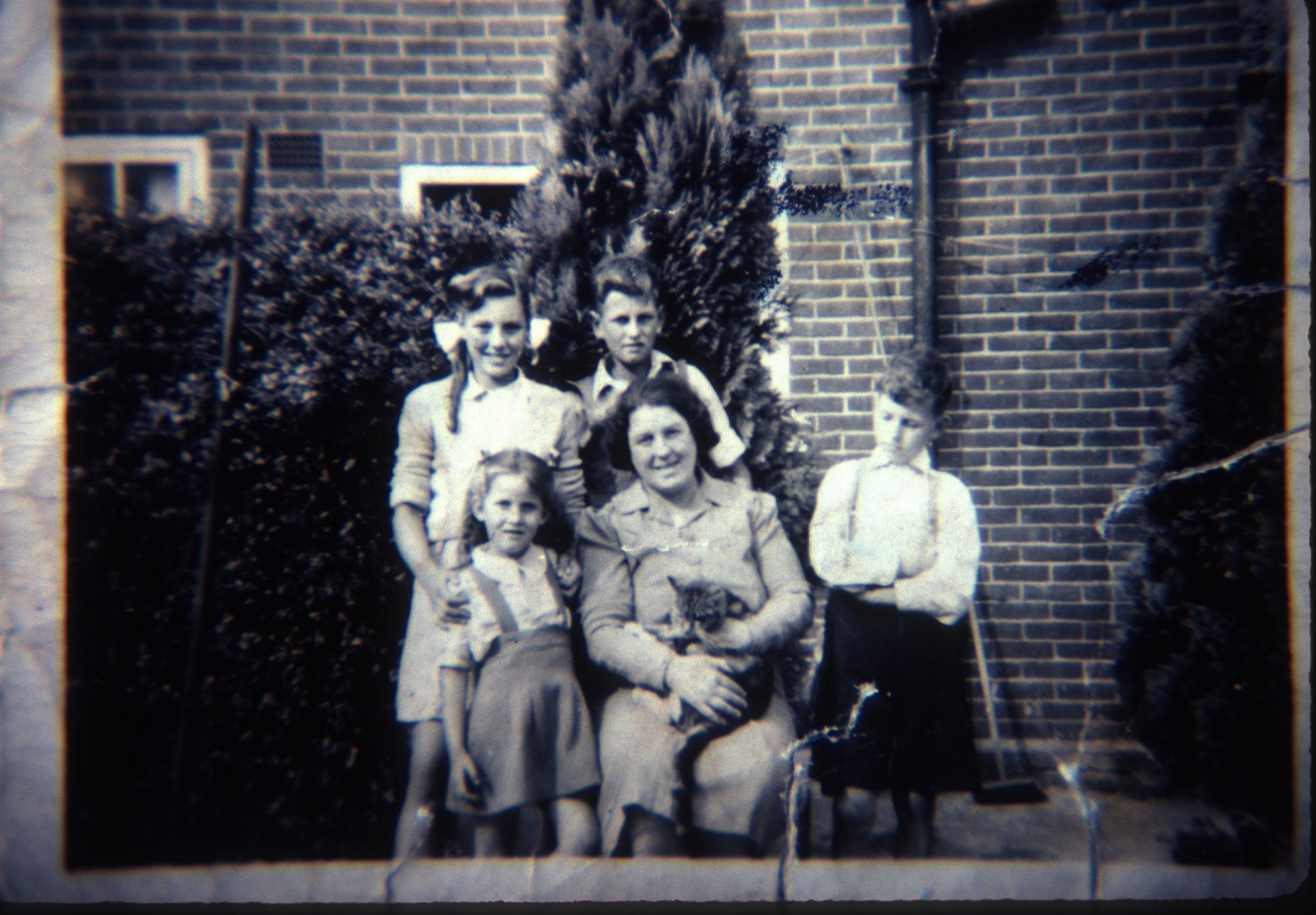 Shirley, Peter, Diane, Rose, moggy and Ray