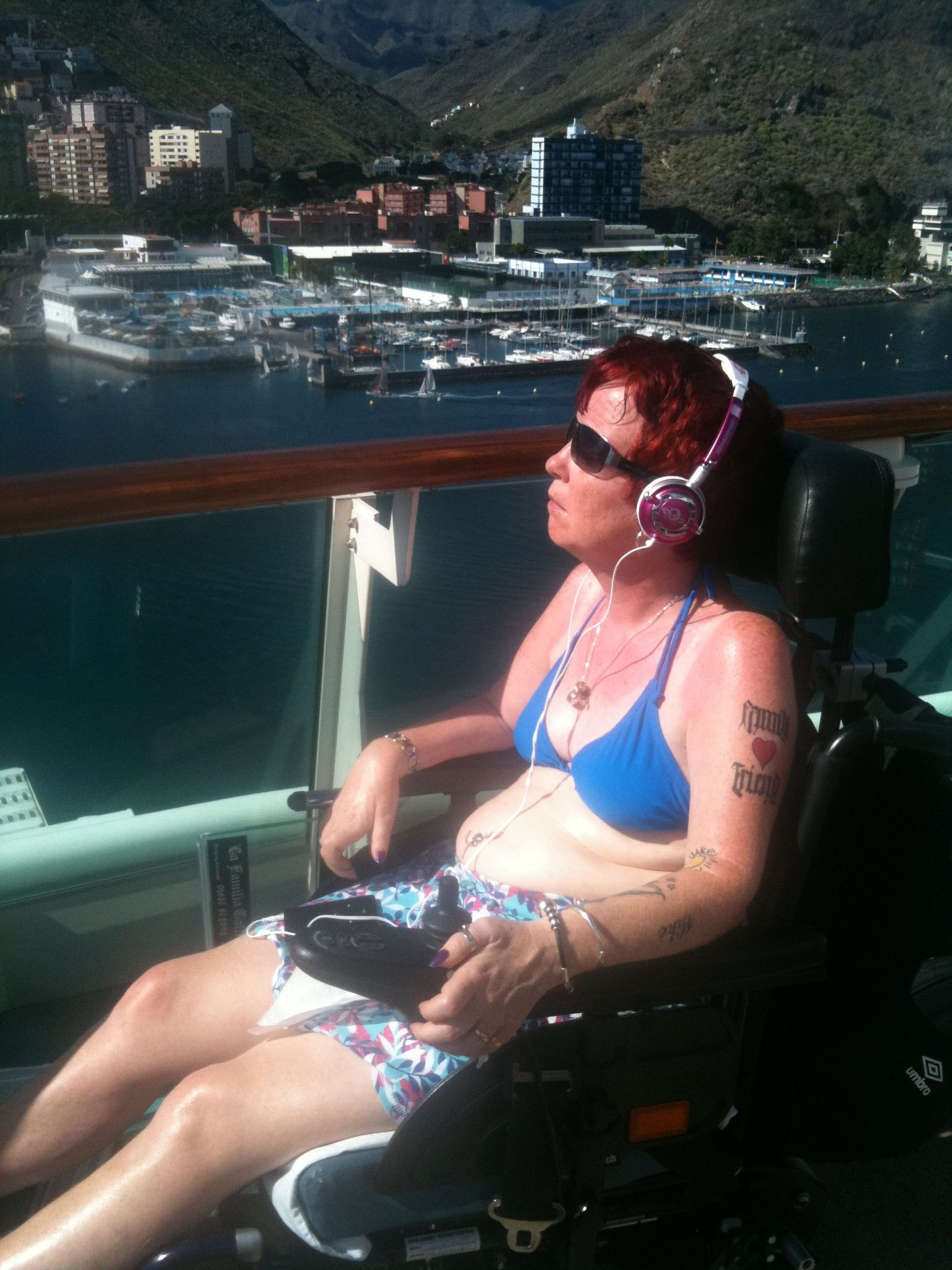 Carol   Sunning Herself   Canary Islands Cruise   October 2010