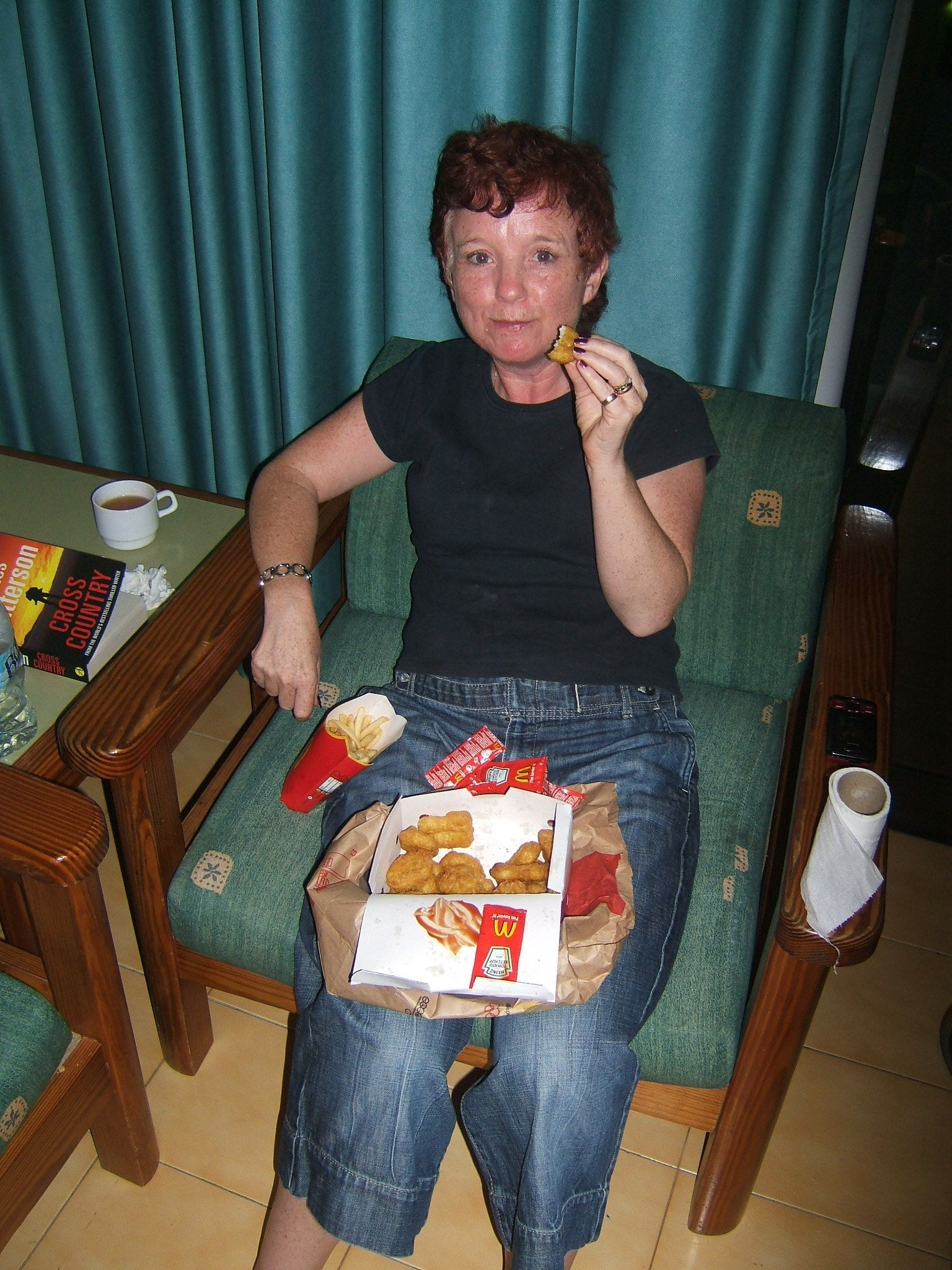 Carol & Her Favourite   McDonalds Nuggets!!   Gran Canaria January 2010