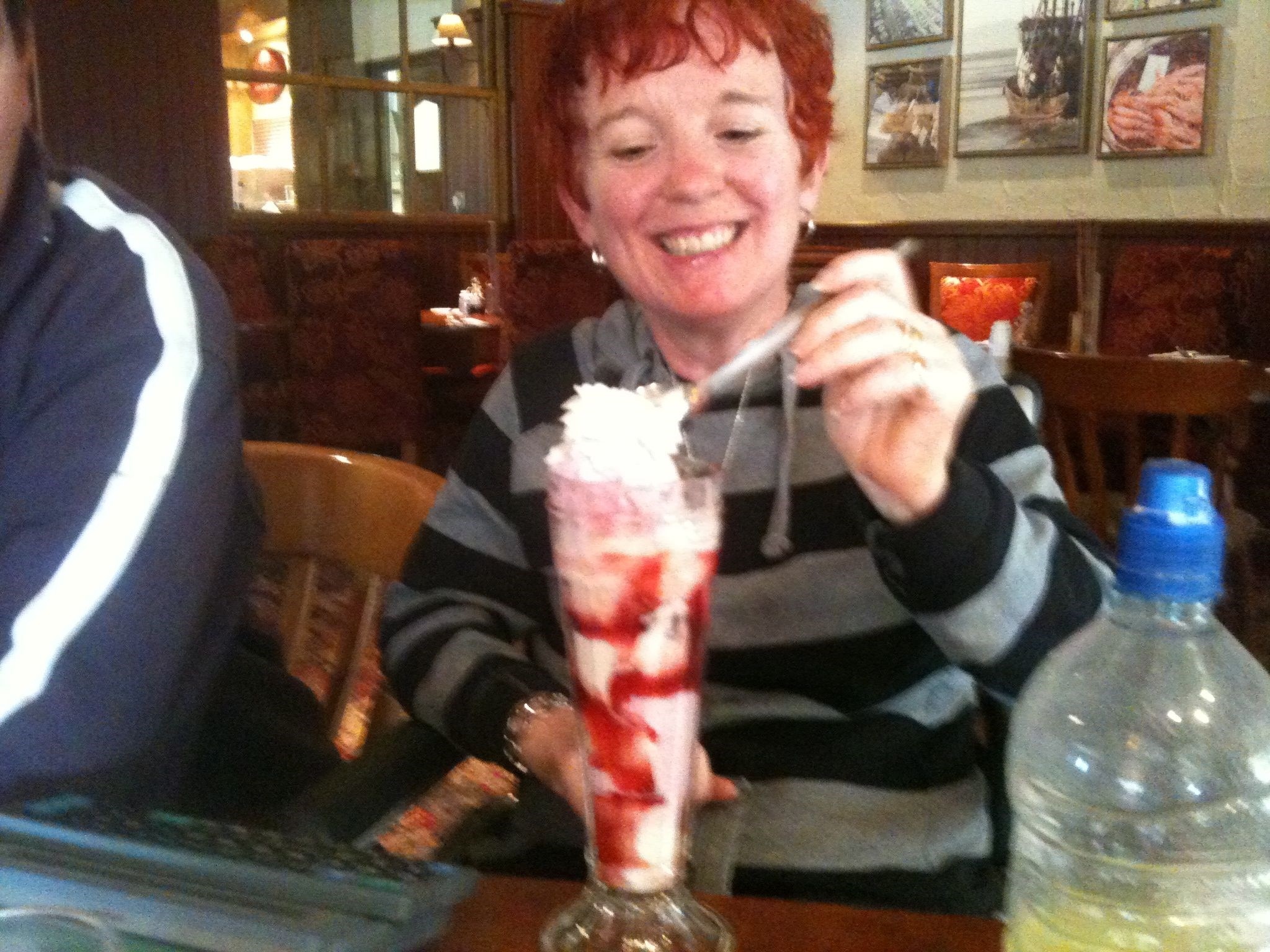 Carol Enjoying a Sundae   May 2010