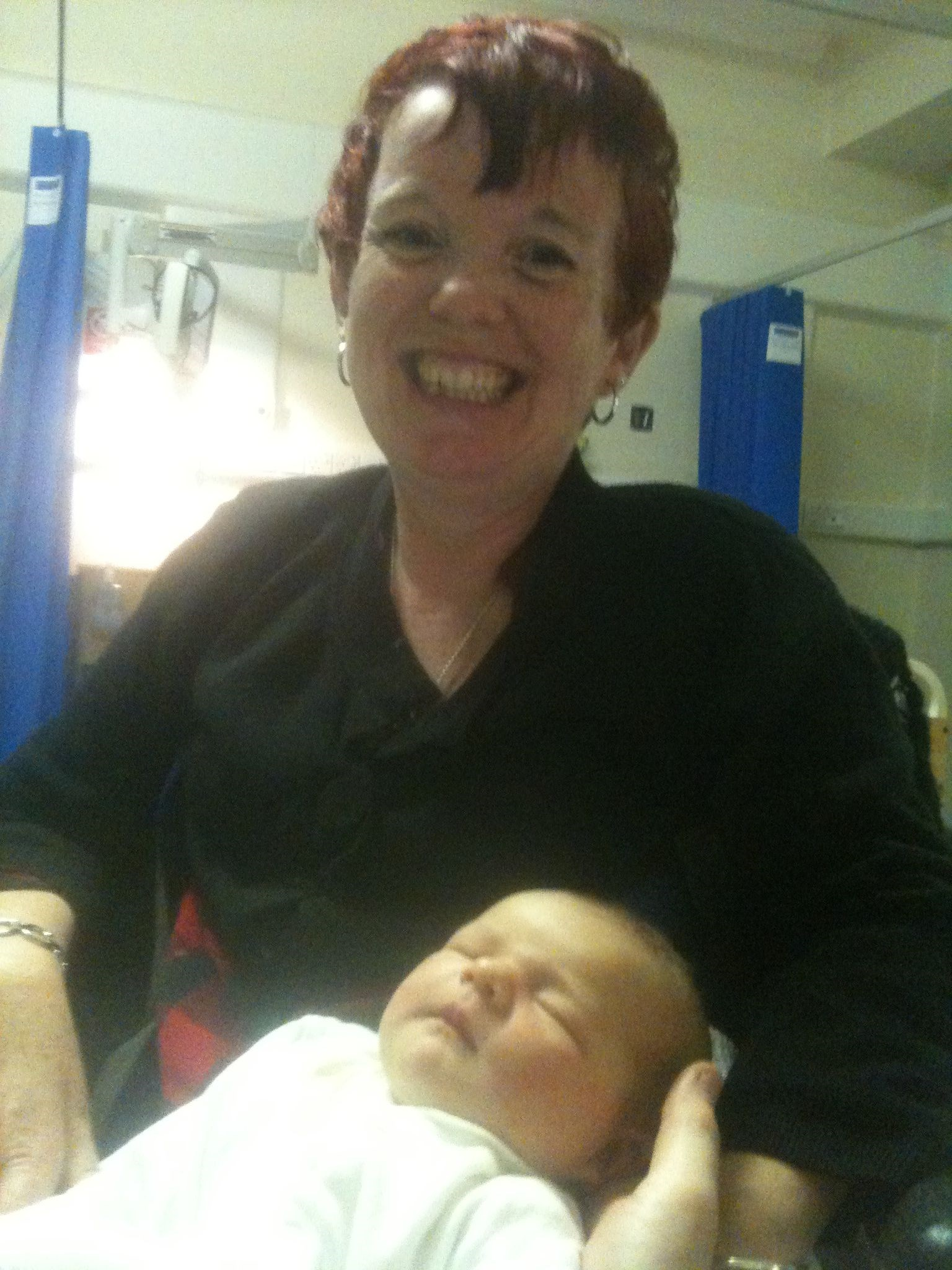 Very Proud Nanna Carol   With Baby   November 2010