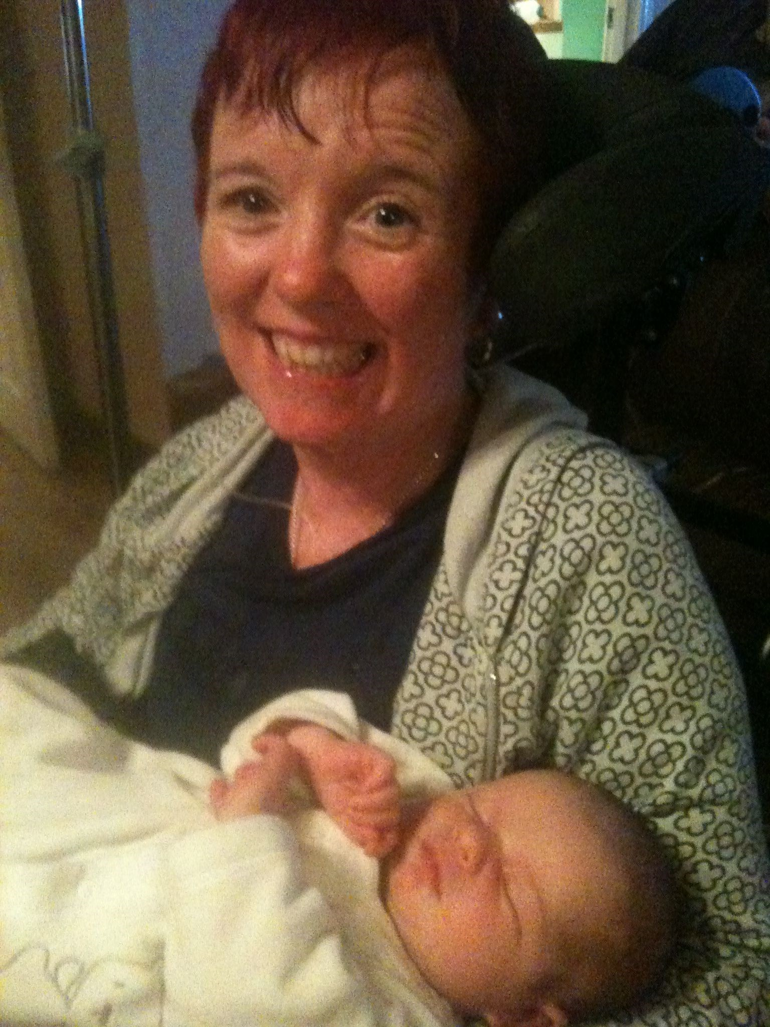 Very Proud Nanna Carol   With Baby (2)   November 2010