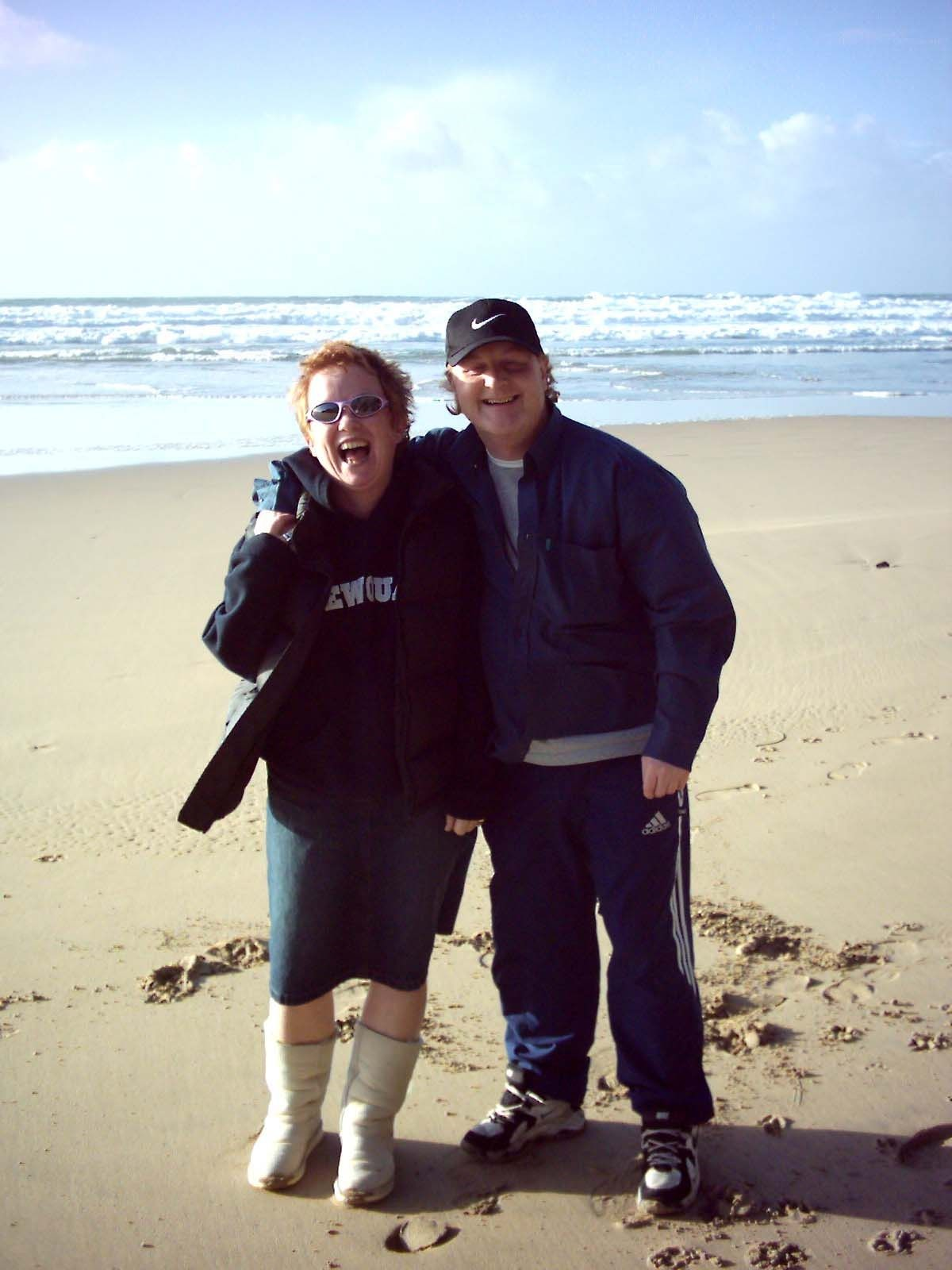 Carol & Paul   Happy Times at Holywell Bay   November 2003