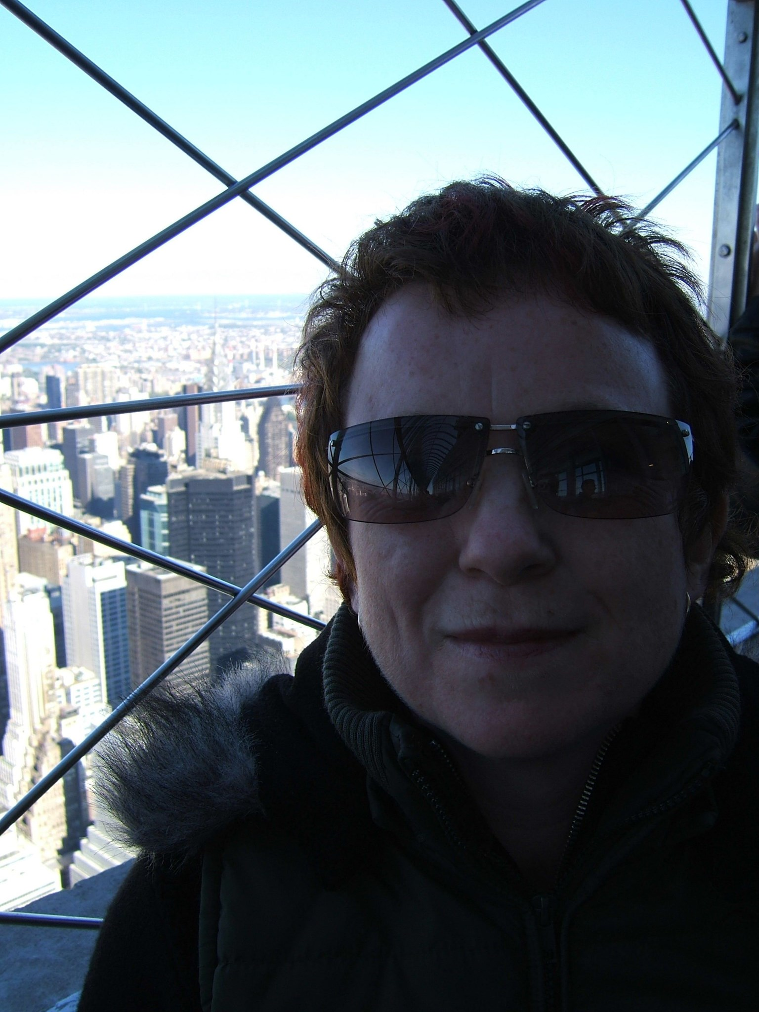 Carol at Top of Empire State Building   New York October 2005