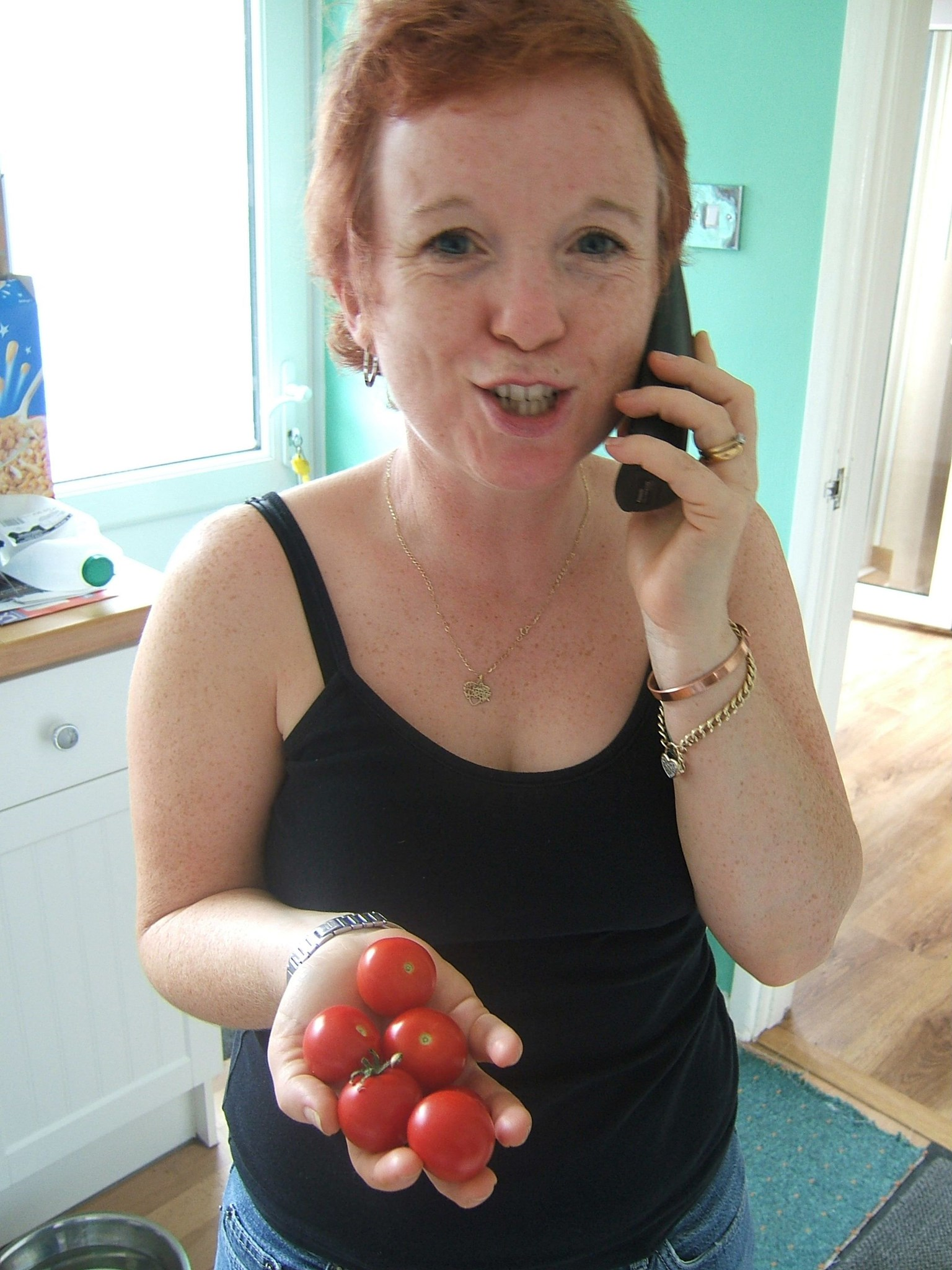 Carol The Gardener   Telling Margaret About Her Tomatoes!! September 2006