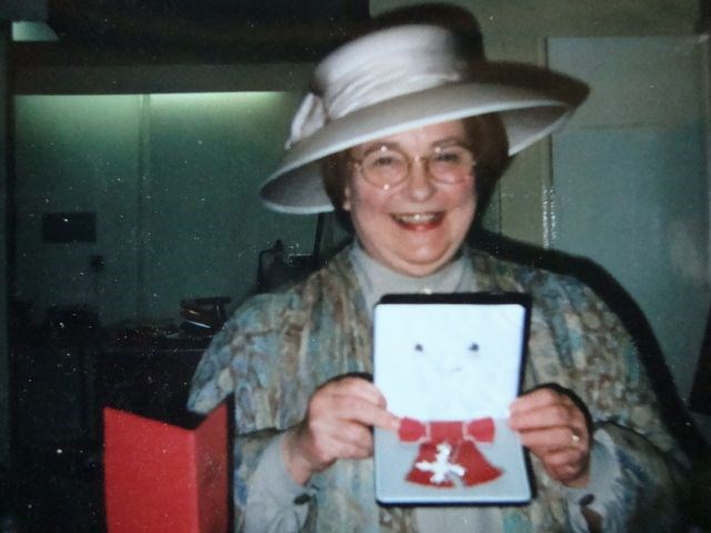 Sheila gets her MBE