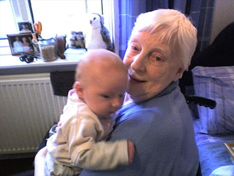 Nan with her Great Grandaughter Ruby