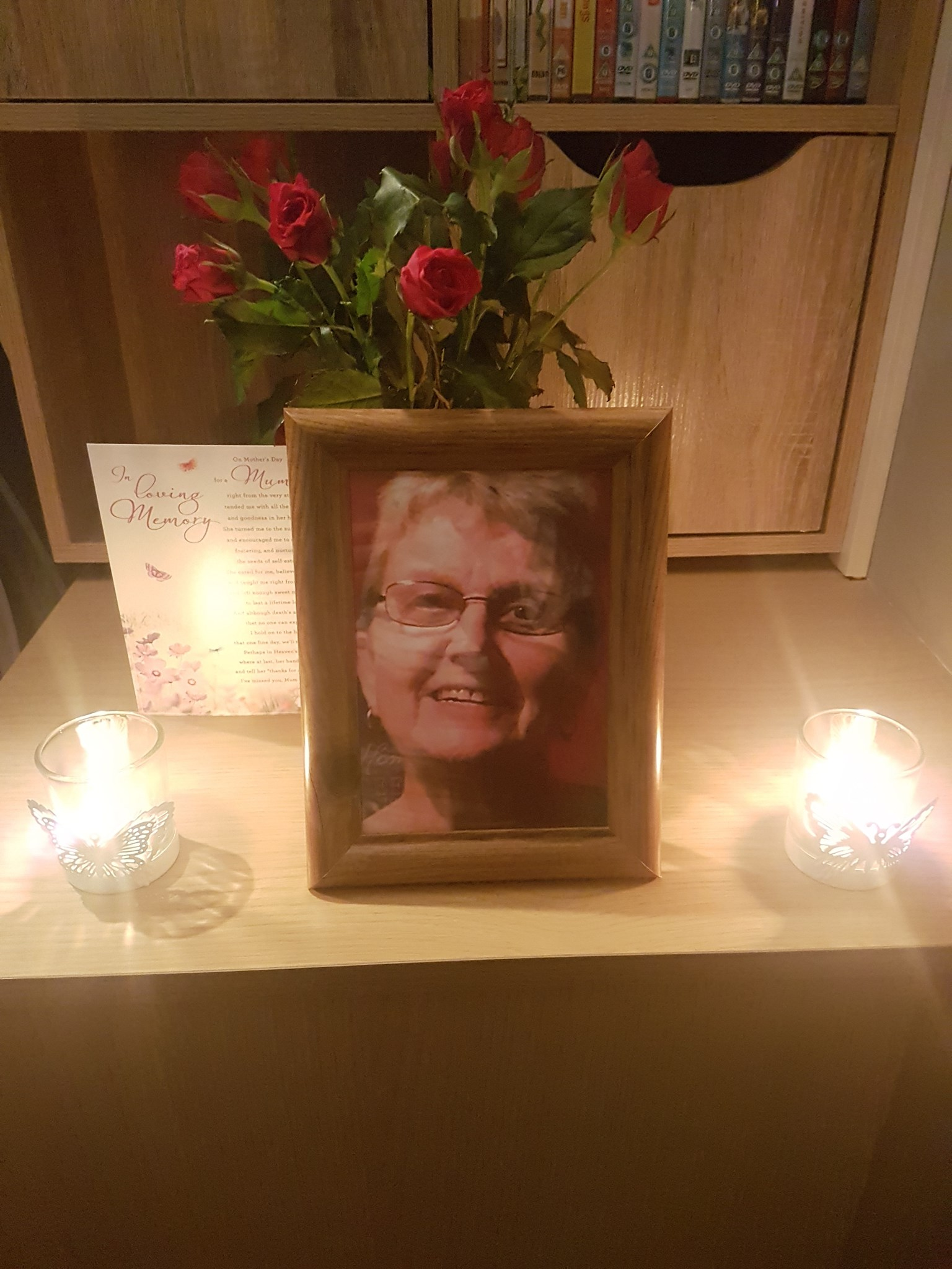 Happy Mother's Day Mum miss u so much lots of love Kim and Andrew xxxx