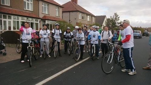 Sponsored cycle ride October 2014- getting ready