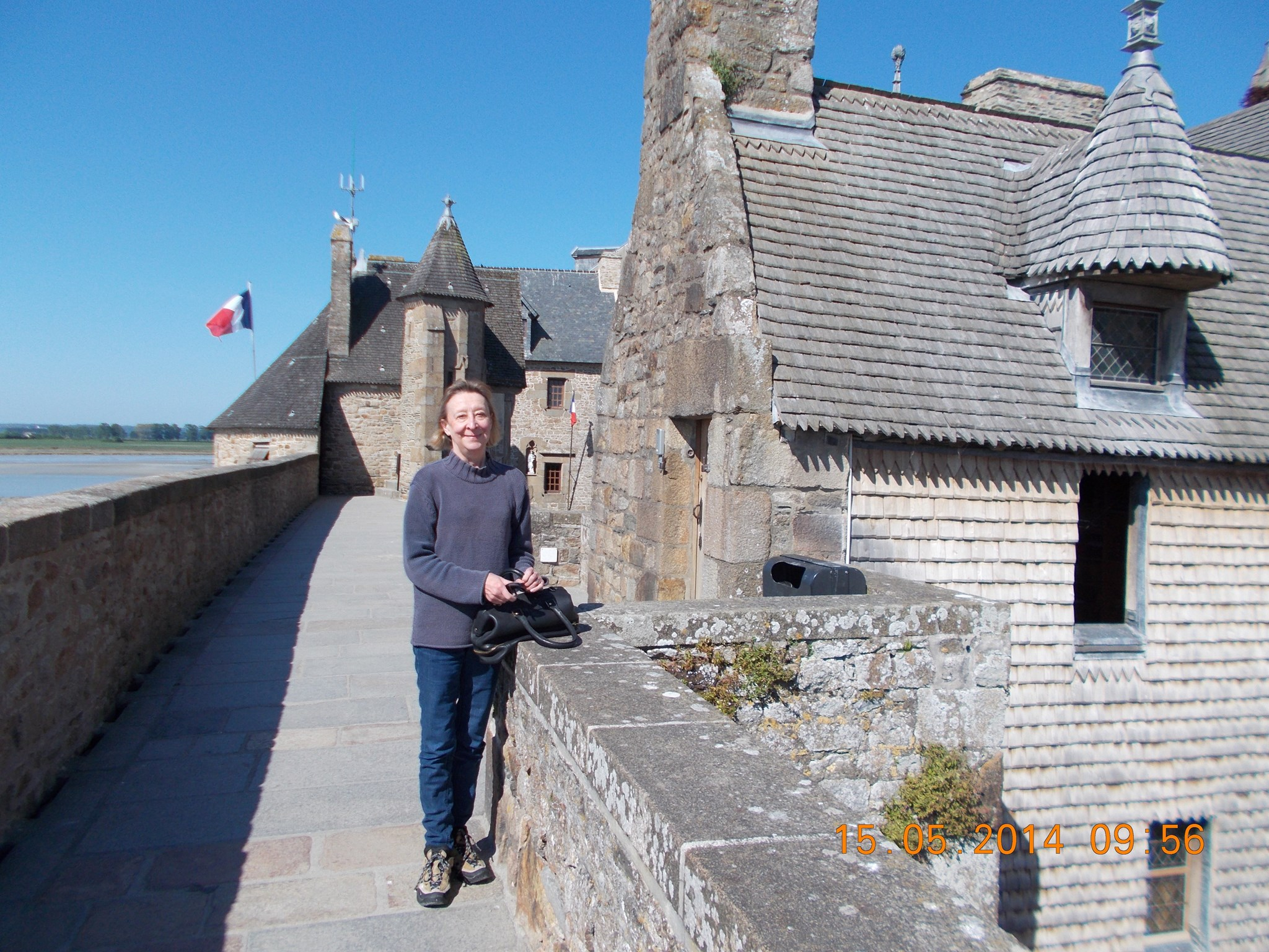 Le Mont St Michel; we got there before the crowds.