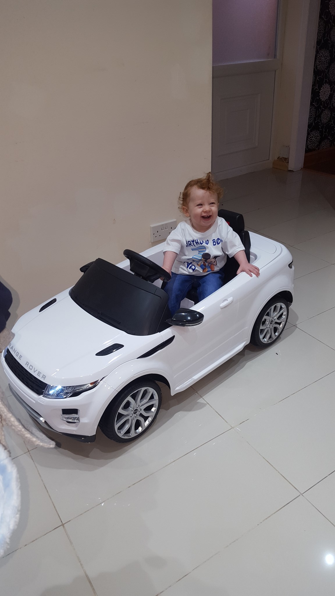 Hey uncle Richard im 1years old. I hope you like my new ride. Love you xxx