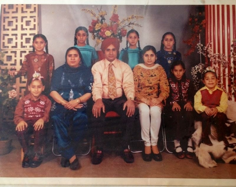Mr Jagwant Singh Gill and the family he created in love with his soulmate and wife Balwinder Kaur x