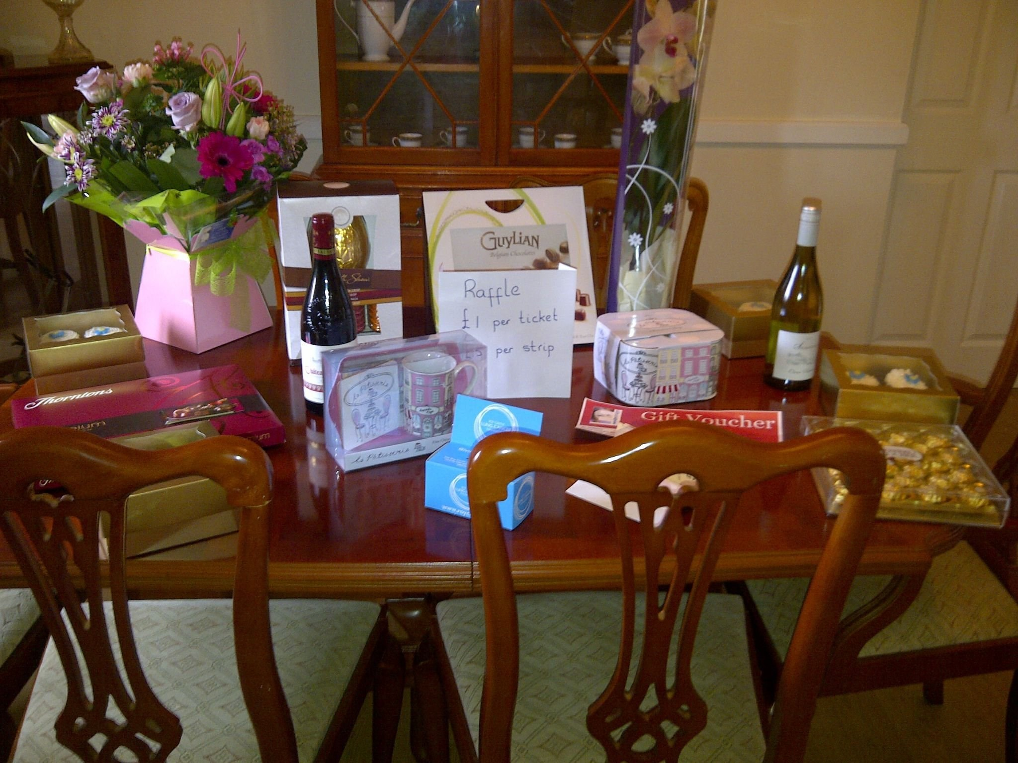 Raffle prizes from our Coffee morning last year