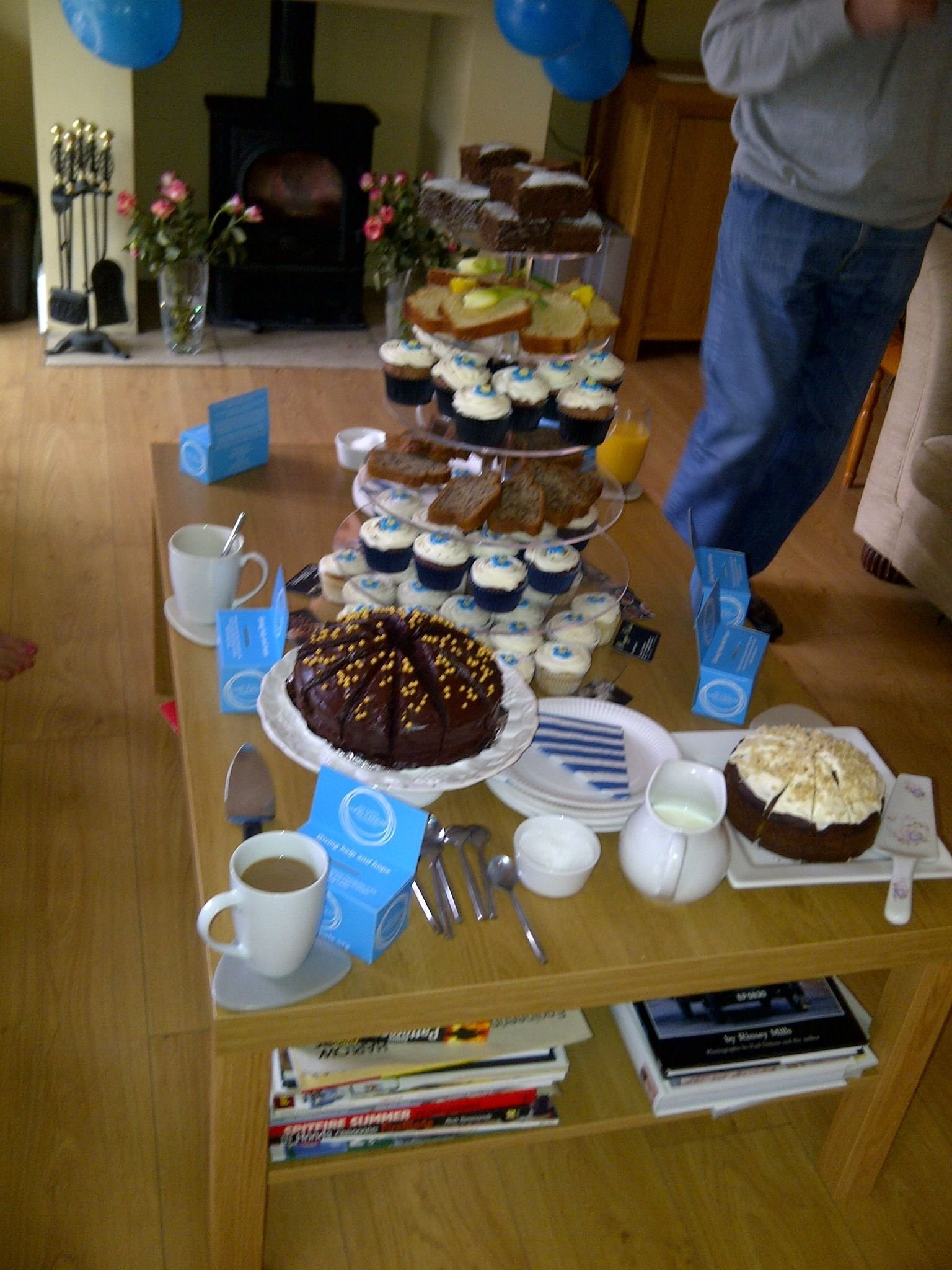 Cakes and coffee from our coffee morning last year
