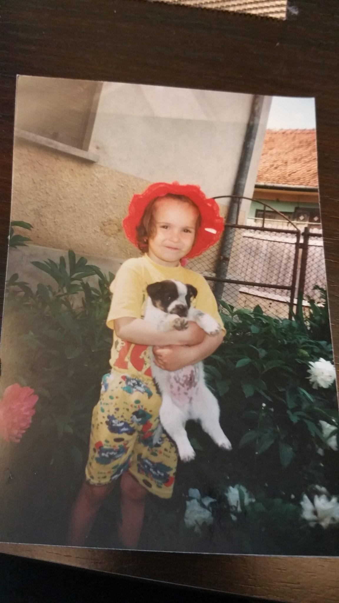 She was 3 and loved her puppy??