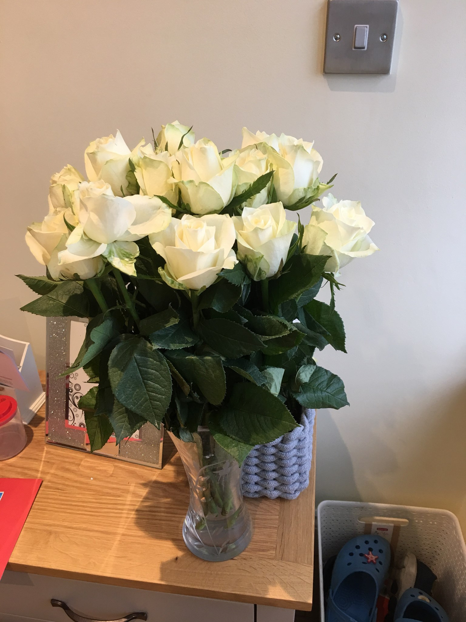 White roses for you to say ?? I LOVE YOU
