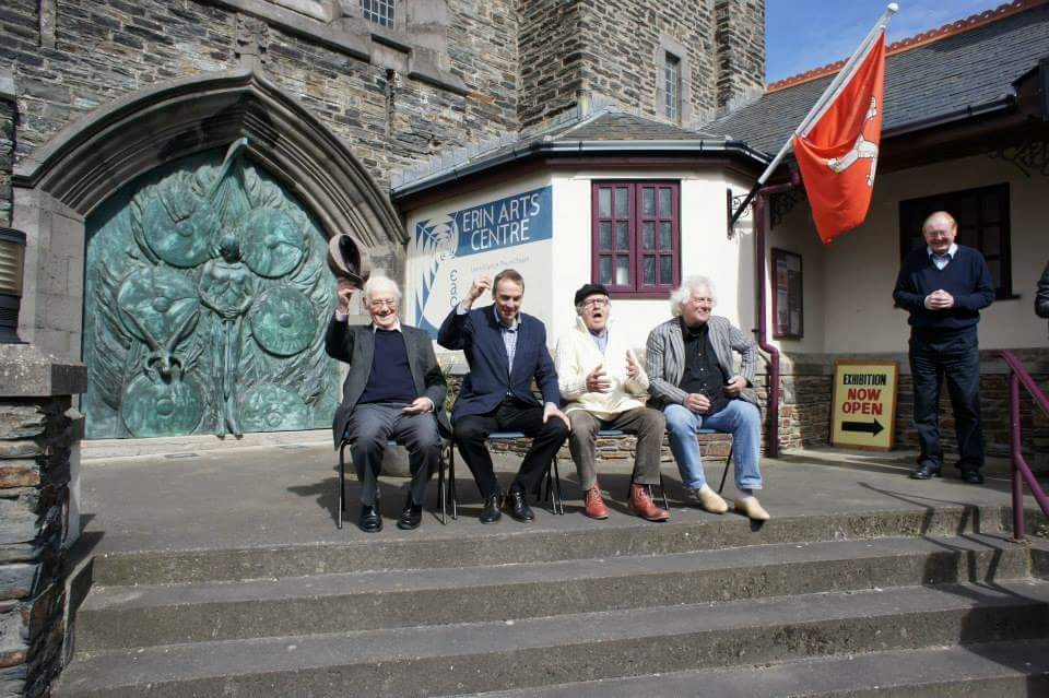 Neil at the Barbirolli Competition 2013, Isle of Man, with George Caird, Maurice Bourgue and Han de Vries