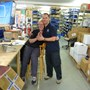 Pete and Pat posing on my last day at GH Supplies