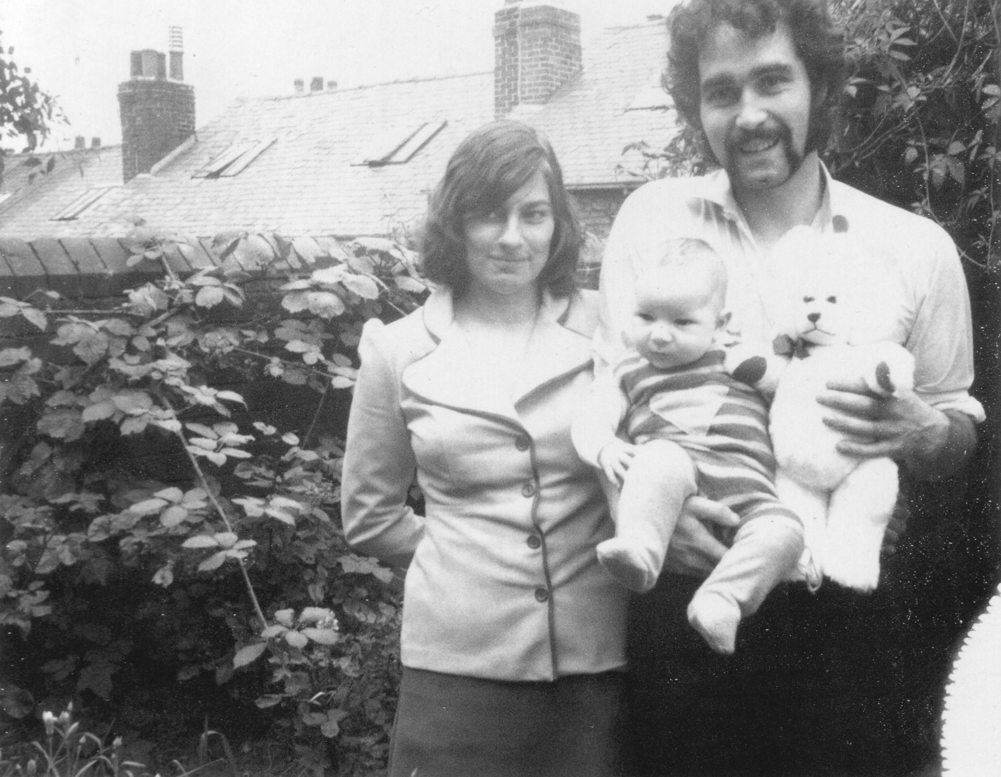 1973?  Malcolm and Rose with Richard Brinnen. Springwood Road Heeley Sheffield