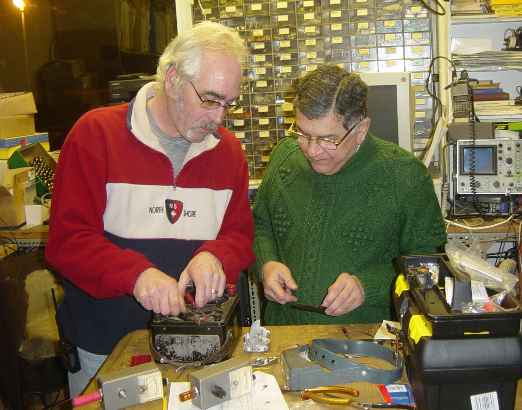Malcolm, and Homi, Doing their amateur radio practical,