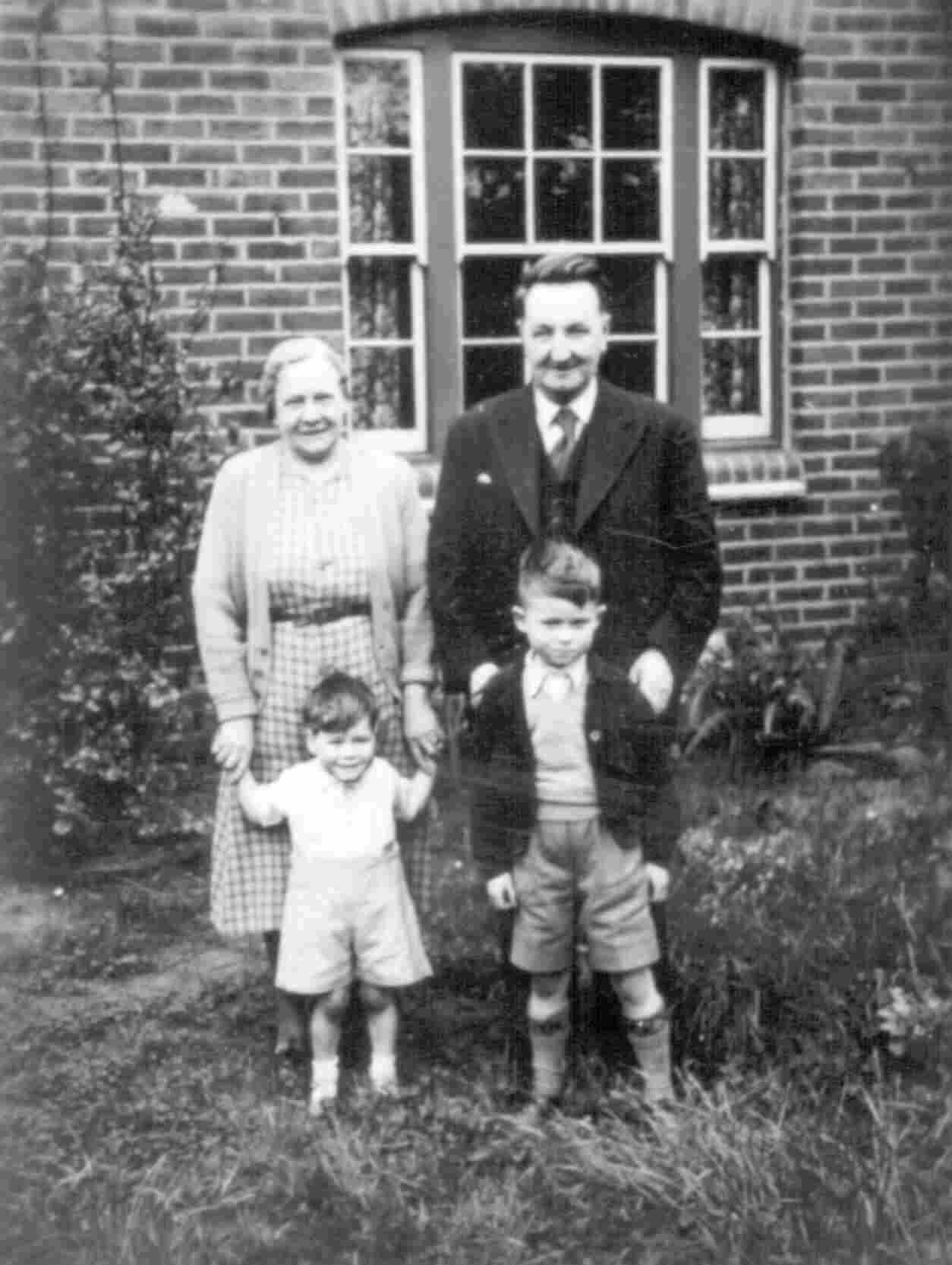 Grandma and Grandfather Brinnen with Malcolm and Nevil.