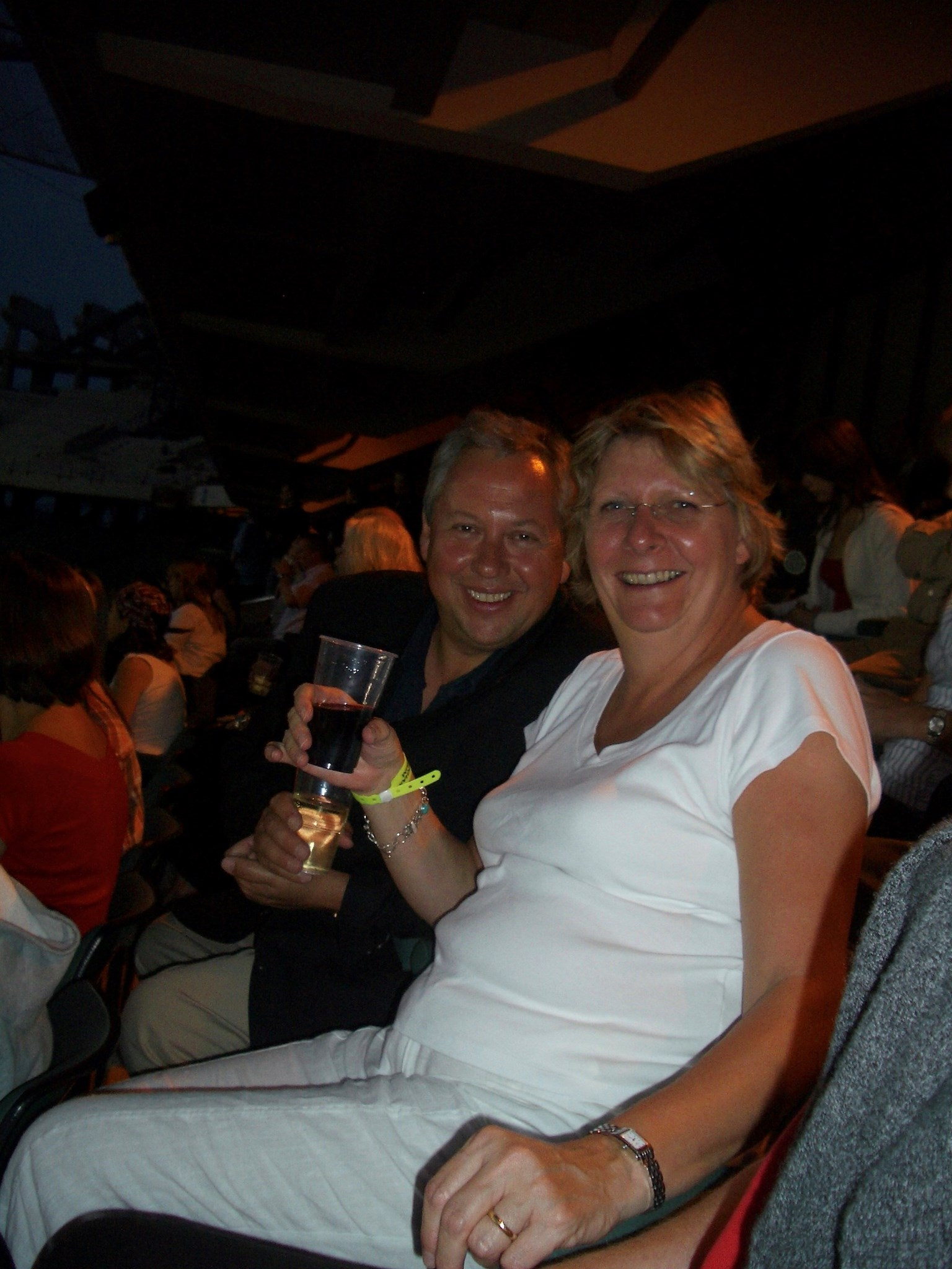 Carrie & Paul grooving at the Rolling Stones! One of many happy days & happy memories!
