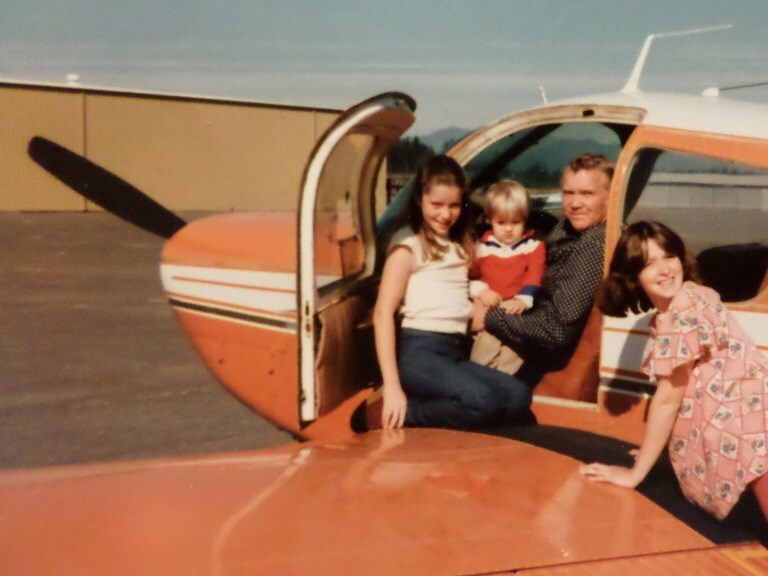 Glen after flying his airplane from CA to WA - Circa 1980