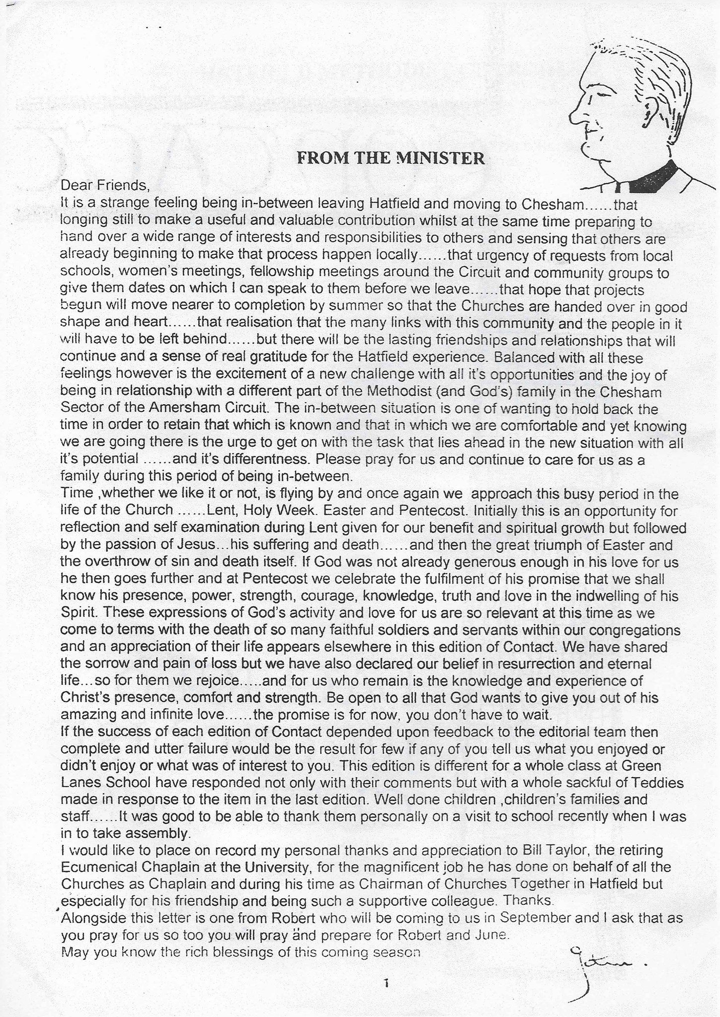 Final letter and cartoon from Hatfield.