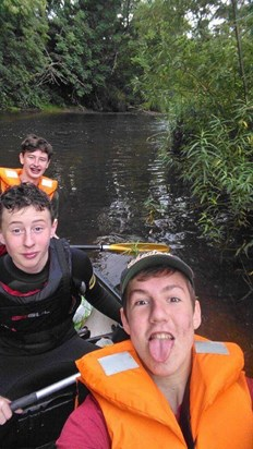 Canoeing for Mo's 16th Birthday