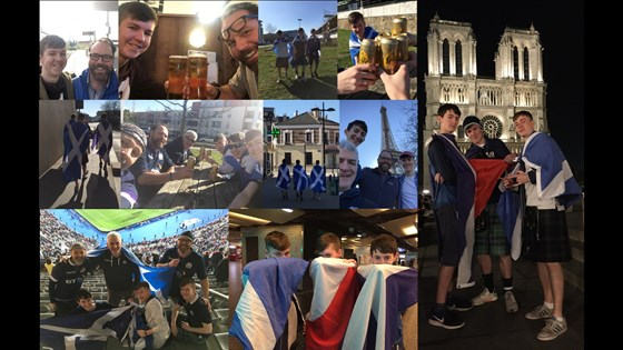 2019 Paris rugby trip... we all made it!...France 27-10 Scotland...many beverages...cracking spring weather... another distinctive AirBnB!  We miss you every game Cal but have great memories of these weekends... fathers and sons: all friends...