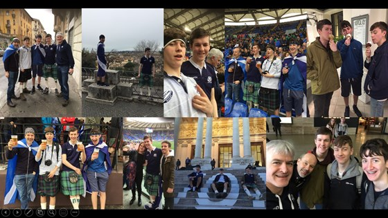 2018 Rome rugby trip... Italy 27-29 Scotland... Jack's 17th... Sharknado... Brian missing out due to hip op... Calvin's zigzagging Europe to get there and back... Doddie Gump...Andrew & Jack's flight home cancelled and resulting bonus day in Rome...