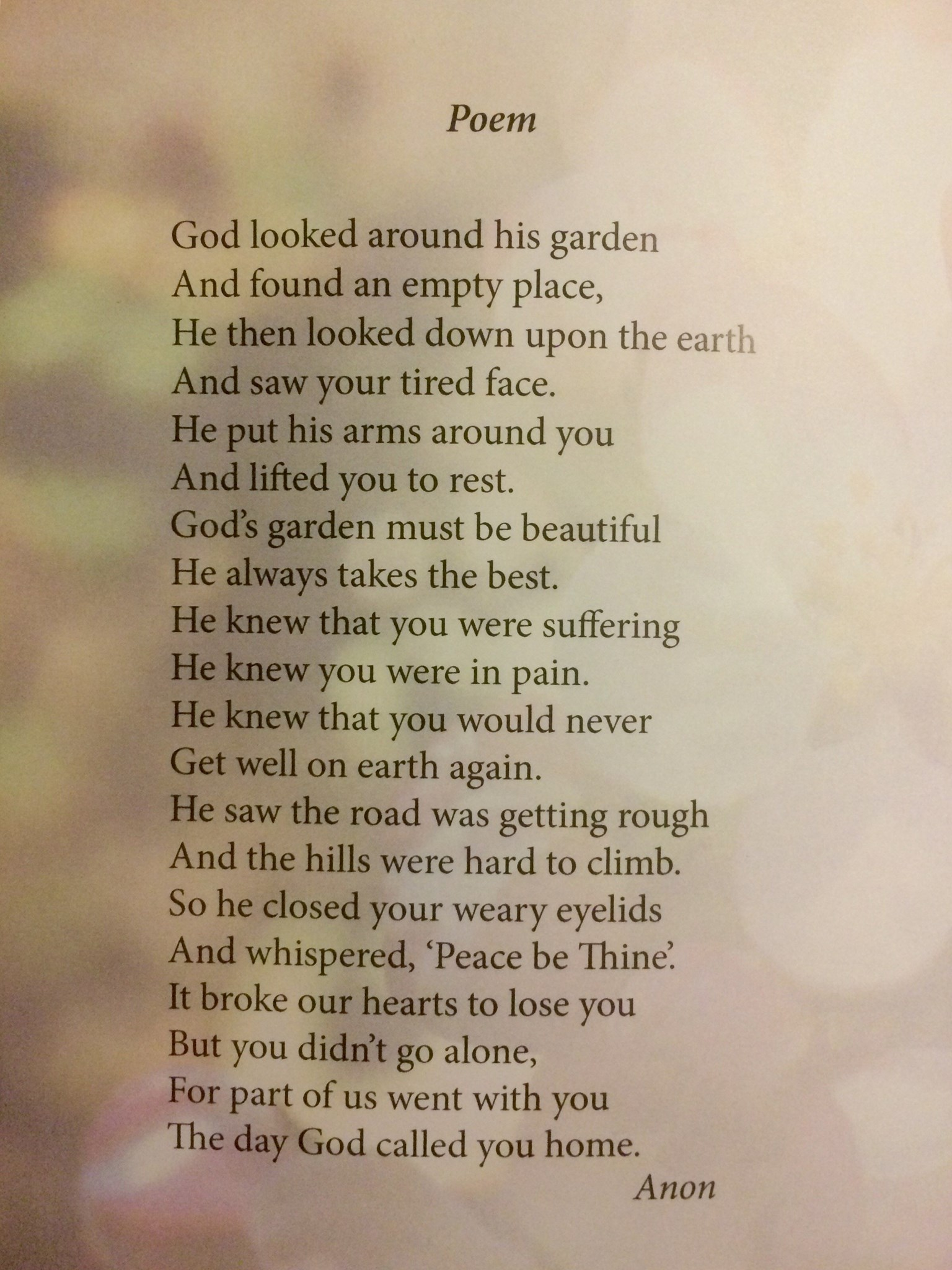 Funeral Memorial Book Page 5 {Made by Jim Stone}