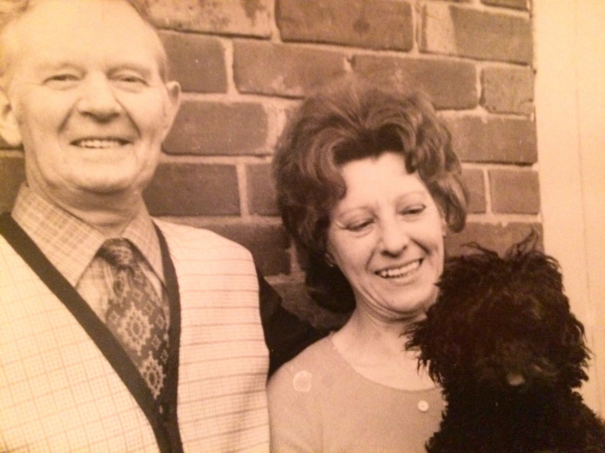 Joyce and her husband Jim... And beloved poodle